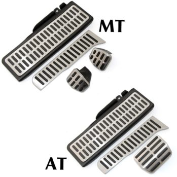Stainless-Steel-Manual-Automatic-Transmission-AT-MT-font-b-Pedal-b-font-font-b-Pads-b