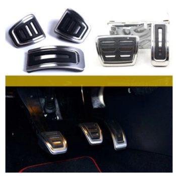 Stainless-steel-Car-Clutch-Gas-font-b-Brake-b-font-pedals-Cover-for-Volkswagen-font-b