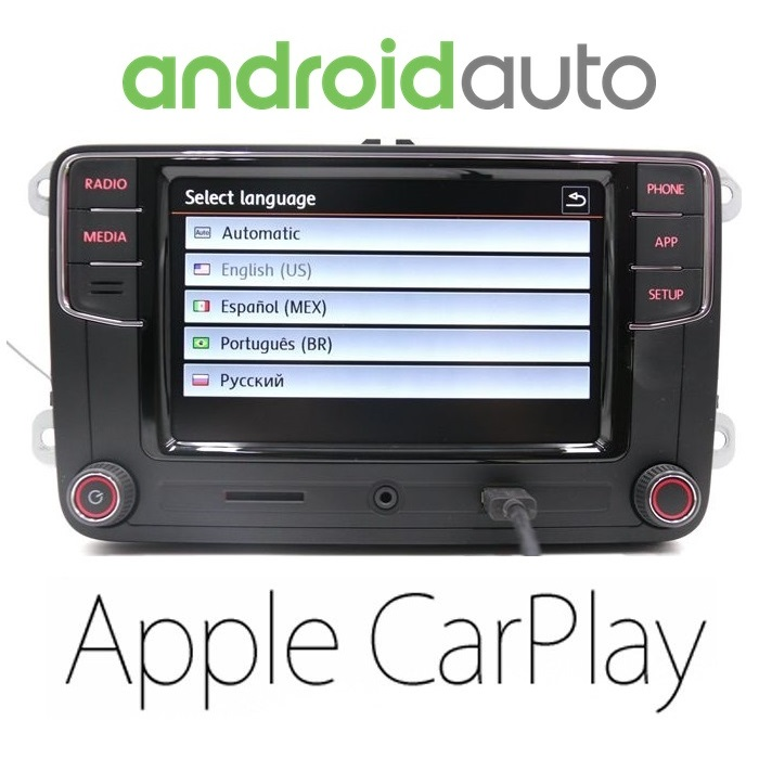 rcd 330 plus android auto carplay volkswagen. Black Bedroom Furniture Sets. Home Design Ideas